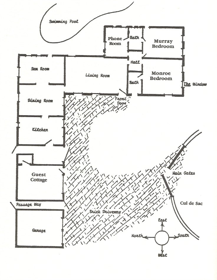 Floorplan black and white movies for House plans monroe la